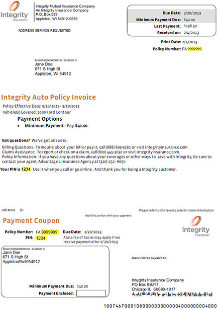 Register Policy Number Integrity Insurance